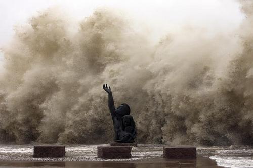 Hurricane Ike seawall