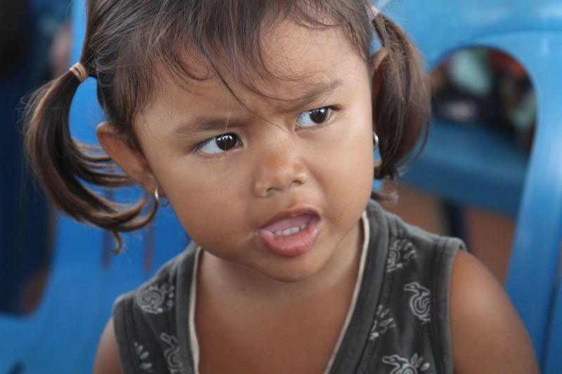 Cambodian little girl