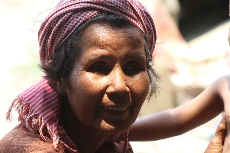 Cambodian mom