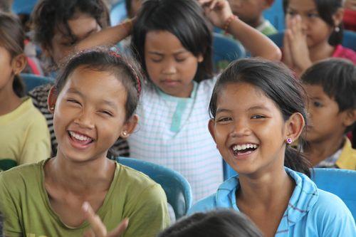 Happy kids in cambodia
