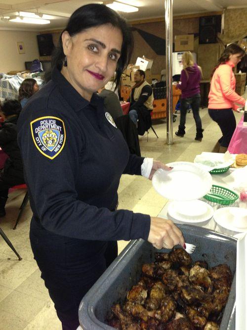 NY police eating